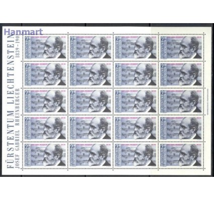 Znaczek Liechtenstein 1989 Mi ark 963 Czyste **