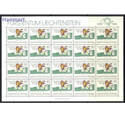Znaczek Liechtenstein 1990 Mi ark 1004 Czyste **