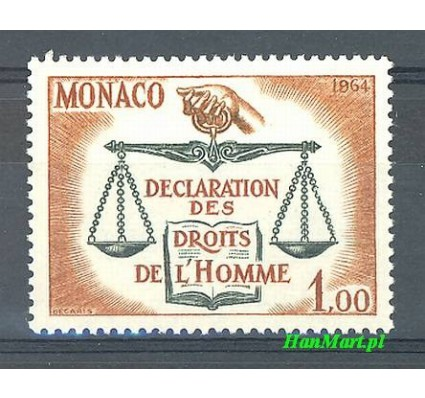 Monako 1964 Mi 792 Czyste **
