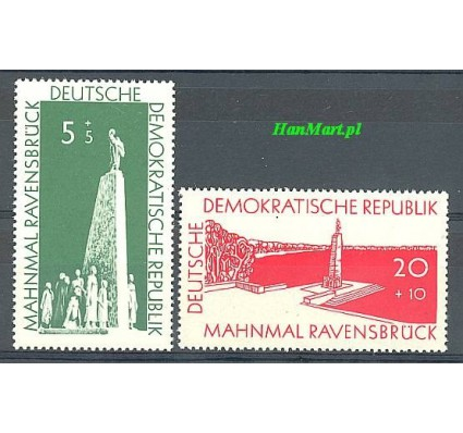 Znaczek NRD / DDR 1957 Mi 566-567 Czyste **