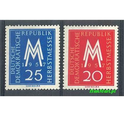 Znaczek NRD / DDR 1957 Mi 596-597 Czyste **