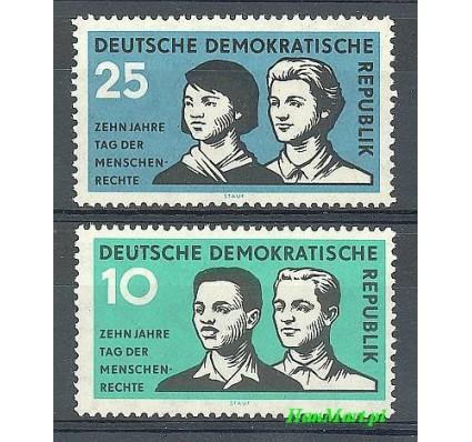 Znaczek NRD / DDR 1958 Mi 669-670 Czyste **