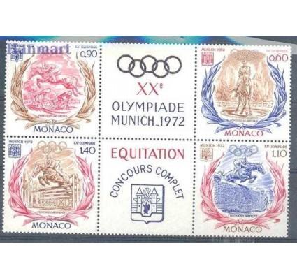 Monako 1972 Mi zf 1045-1048 Czyste **
