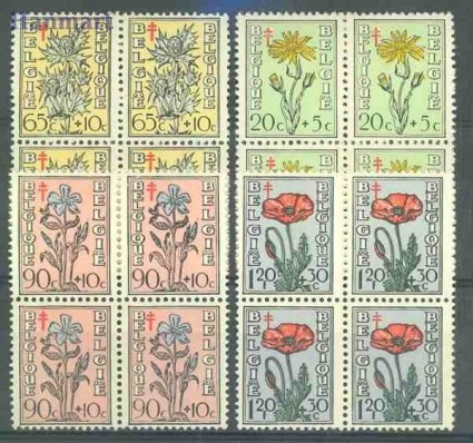Belgia 1949 Mi 854-857 Czyste **