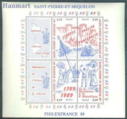 Saint-Pierre i Miquelon 1989 Mi bl 2 Czyste **