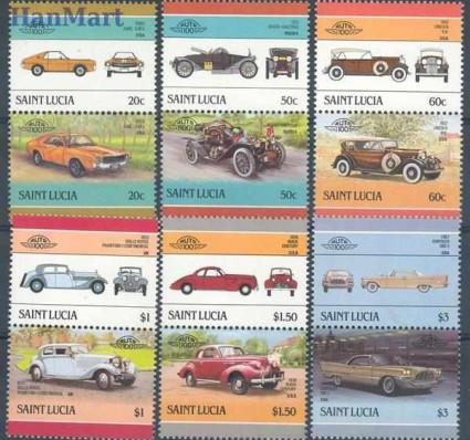 Znaczek Saint Lucia 1986 Mi 860-871 Czyste **