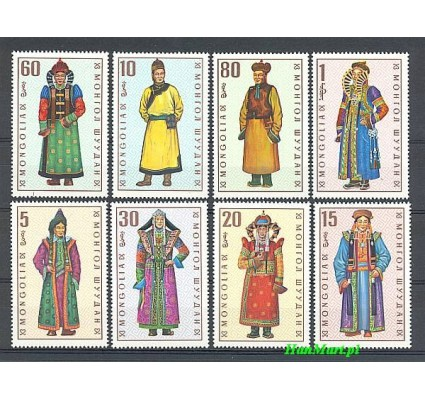 Mongolia 1969 Mi 539-546 Czyste **