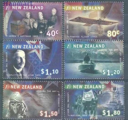 Nowa Zelandia 1999 Mi 1807-1812 Czyste **