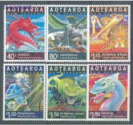 Nowa Zelandia 2000 Mi 1814-1819 Czyste **