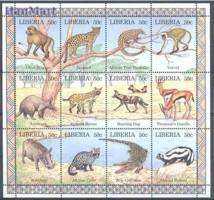 Liberia 1997 Mi 1807-1818 Czyste **