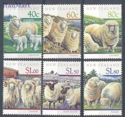 Nowa Zelandia 1991 Mi 1150-1155 Czyste **