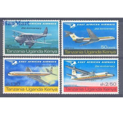 Znaczek Kenia Uganda Tanganyika 1967 Mi 160-163 Czyste **