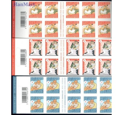 Belgia 2007 Mi mh 3785-3787 Czyste **