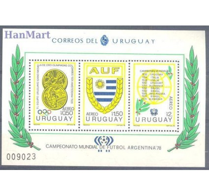 Urugwaj 1978 Mi bl 39 Czyste **