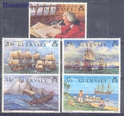 Znaczek Guernsey 1990 Mi 492-496 Czyste **