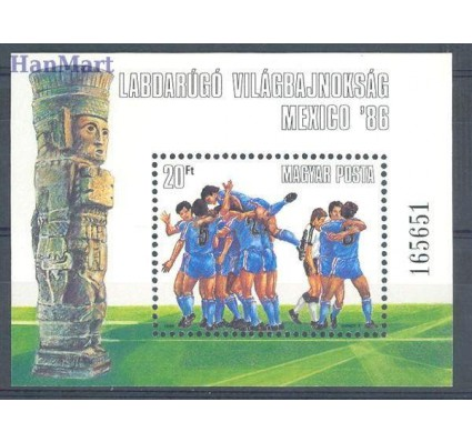 Znaczek Węgry 1986 Mi bl 183 Czyste **