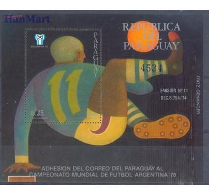 Znaczek Paragwaj 1977 Mi bl 310 Czyste **