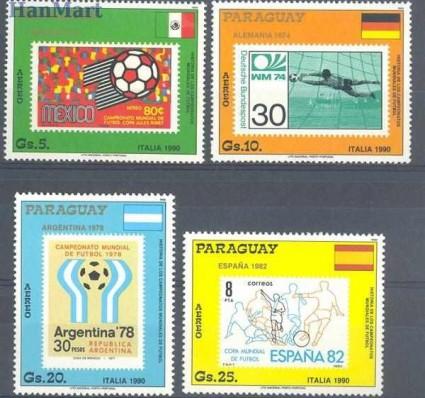 Znaczek Paragwaj 1988 Mi 4268-4271 Czyste **