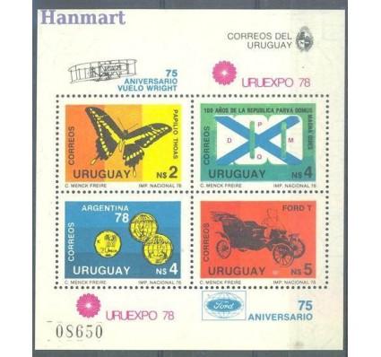 Znaczek Urugwaj 1978 Mi bl 40 Czyste **
