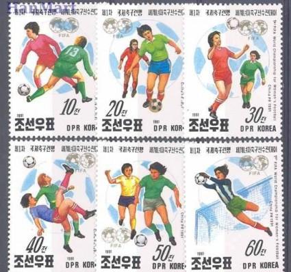Znaczek Korea Północna 1991 Mi 3249-3254 Czyste **