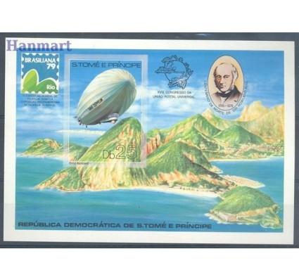Znaczek Wyspy Św. Tomasza i Książęca 1979 Mi bl 36B Czyste **
