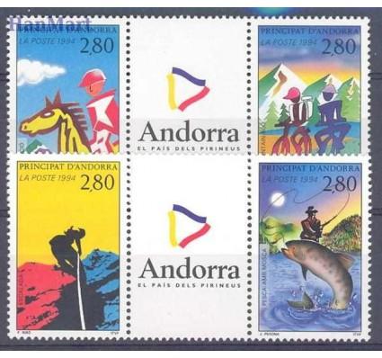 Andora Francuska 1994 Mi 468-471 Czyste **