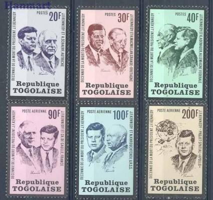 Znaczek Togo 1973 Mi 1003-1008 Czyste **