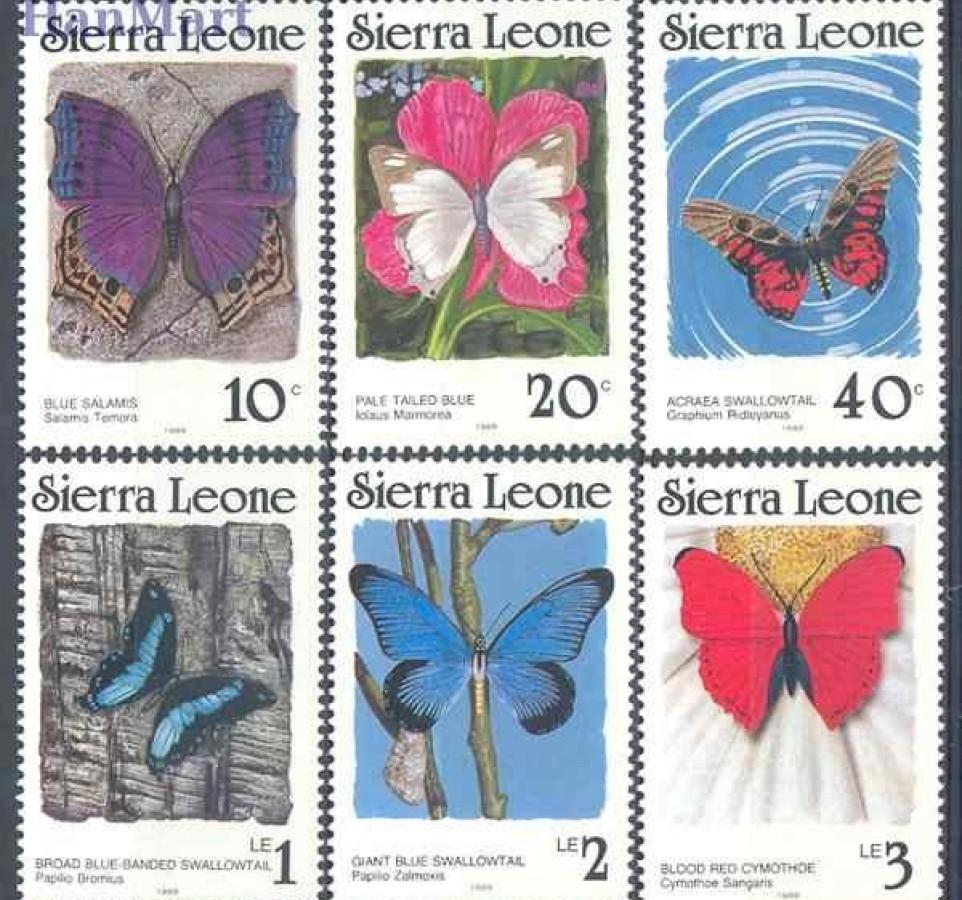 Sierra Leone 1987 Mi 982-987AII Czyste **