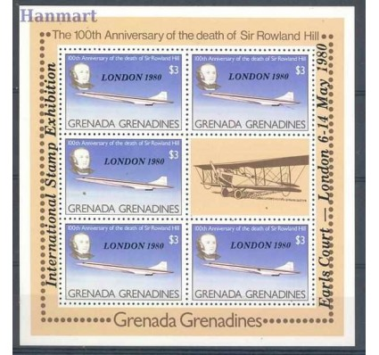 Znaczek Grenada i Grenadyny 1980 Mi ark 393 Czyste **