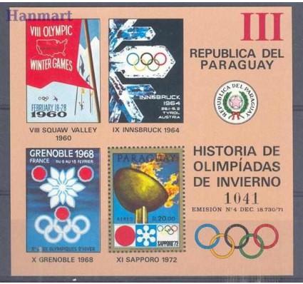 Znaczek Paragwaj 1972 Mi bl 186 Czyste **