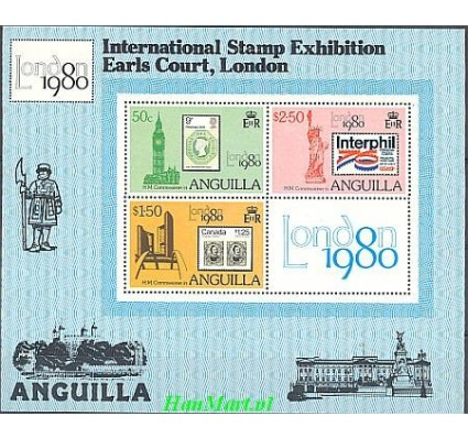 Znaczek Anguilla 1980 Mi bl 32 Czyste **