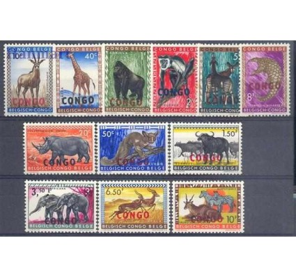 Znaczek Kongo Kinszasa / Zair 1960 Mi 29-40 Czyste **