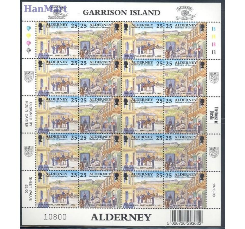 Alderney 1999 Mi ark 108-115 Czyste **
