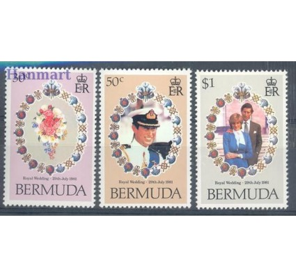 Znaczek Bermudy 1981 Mi 401-403 Czyste **