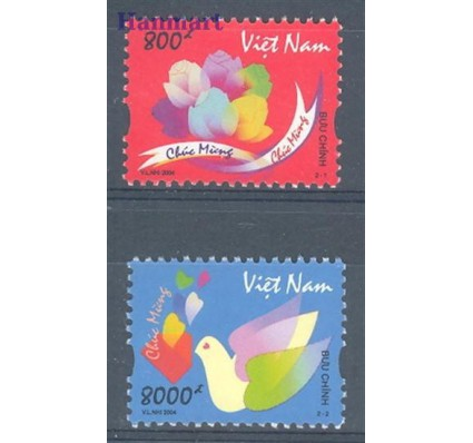 Znaczek Wietnam 2004 Mi 3315-3316 Czyste **