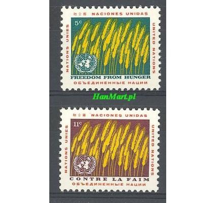 Znaczek Narody Zjednoczone Nowy Jork 1963 Mi 126-127 Czyste **