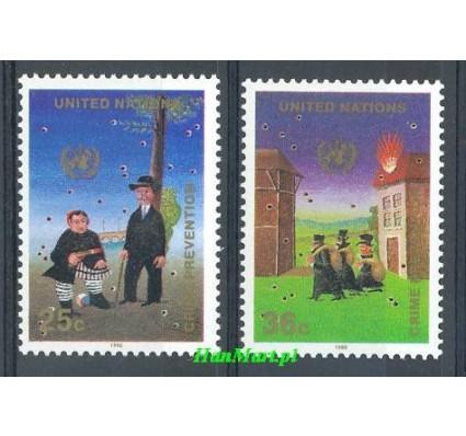 Narody Zjednoczone Nowy Jork 1990 Mi 604-605 Czyste **