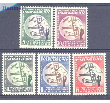 Znaczek Paragwaj 1950 Mi 656-660 Czyste **