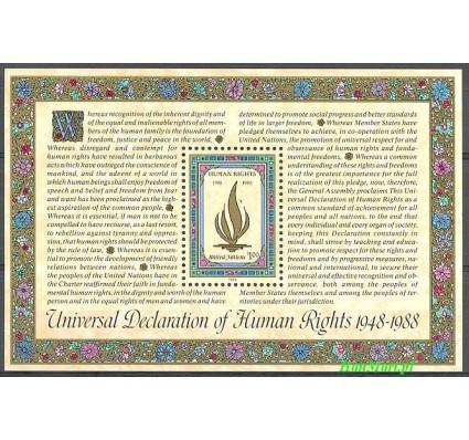 Narody Zjednoczone Nowy Jork 1988 Mi bl 10 Czyste **
