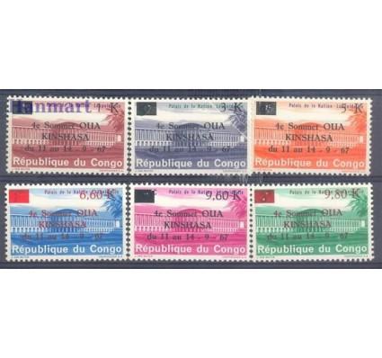 Znaczek Kongo Kinszasa / Zair 1967 Mi 290-295 Czyste **
