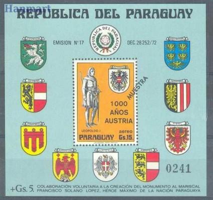 Znaczek Paragwaj 1976 Mi spebl 268 Czyste **