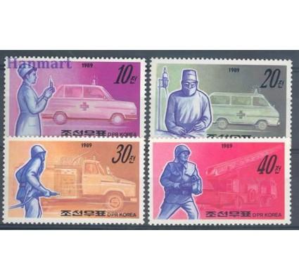 Znaczek Korea Północna 1989 Mi 3034-3037 Czyste **