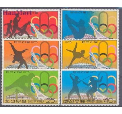 Znaczek Korea Północna 1976 Mi 1508-1513 Czyste **