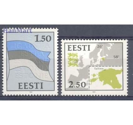 Znaczek Estonia 1991 Mi 174-175 Czyste **