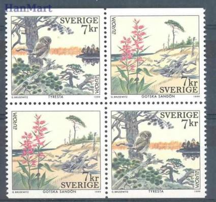 Znaczek Szwecja 1999 Mi 2122-2123 Czyste **