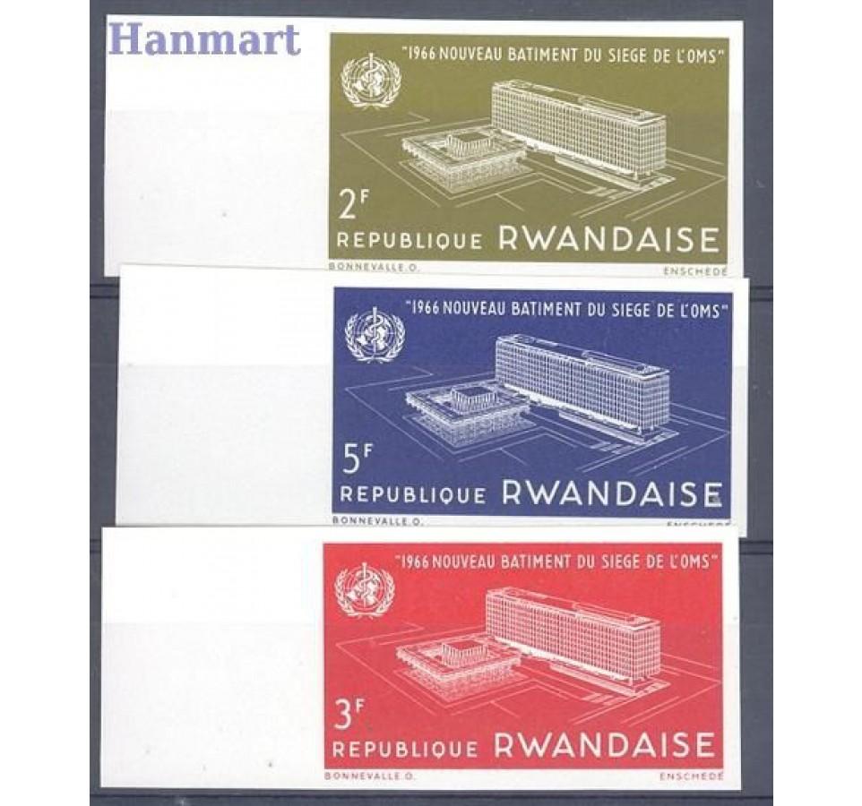 Rwanda 1966 Mi 168-170B Czyste **
