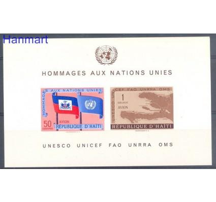 Znaczek Haiti 1958 Mi bl 10 Czyste **
