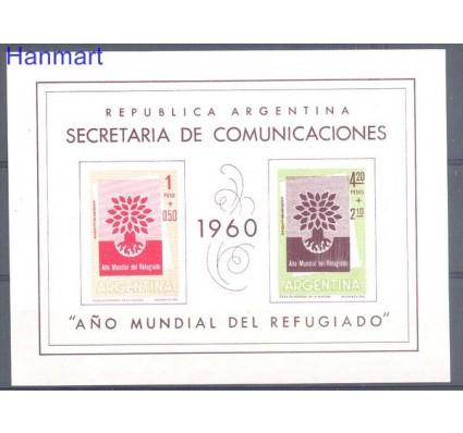 Znaczek Argentyna 1960 Mi bl 12y Czyste **