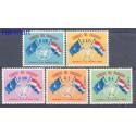 Paragwaj 1960 Mi 864-868 Czyste **