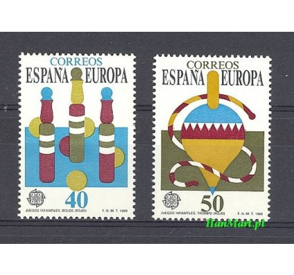 Znaczek Hiszpania 1989 Mi 2885-2886 Czyste **